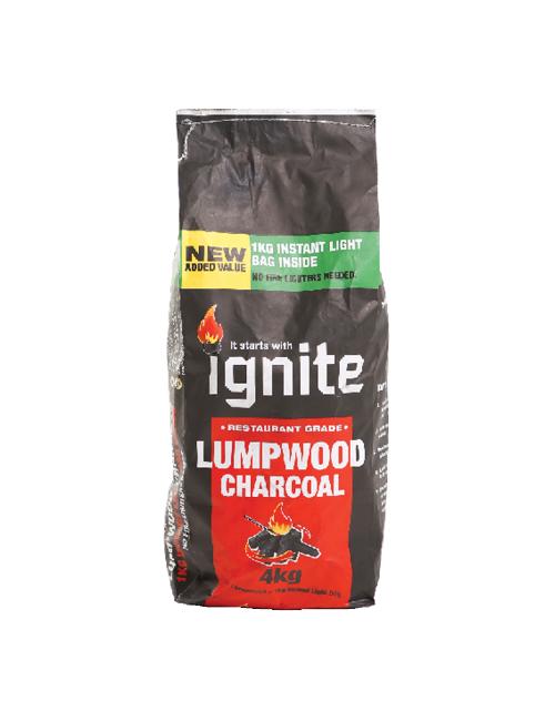 3 kg Lump Wood Charcoal + 1kg Instant Light Charcoal